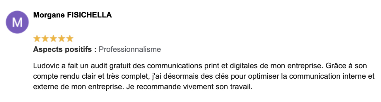Commentaire Google